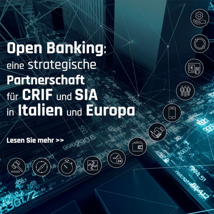Open Banking: eine strategische Partnerschaft für CRIF und SIA in Italien und Europa