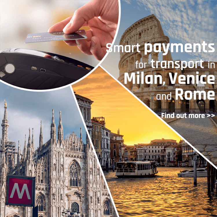 Smart payments for transport in Milan, Venice and Rome