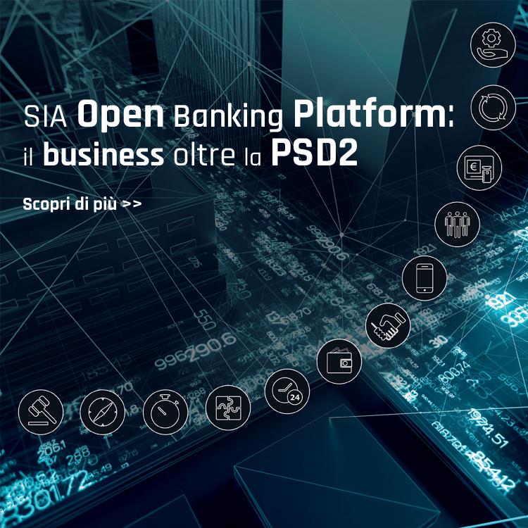 SIA open banking platform: il business oltre la PSD2