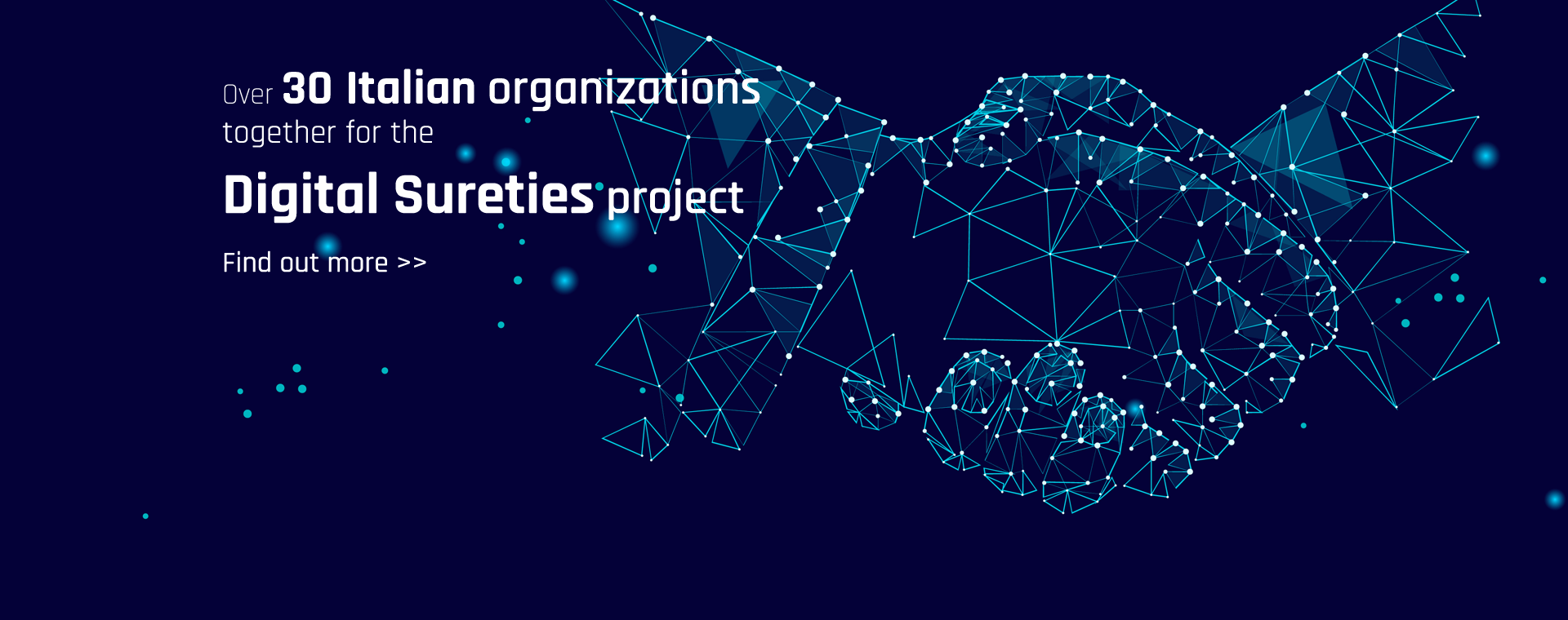 Over 30 Italian organizations the Digital Sureties project