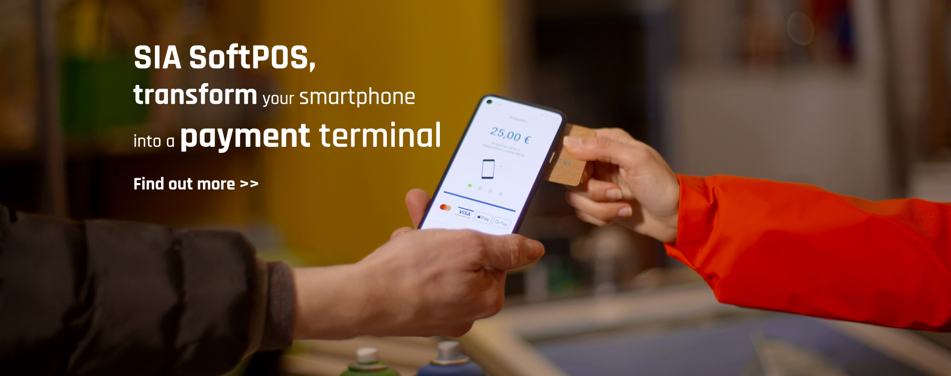 SIA Soft POS. Transform your Android telephone into a payment terminal